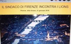 Firenze: il Sindaco Nardella incontra i Lions Club dell'area fiorentina