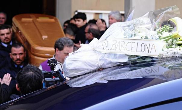 Valentina Gallo's funeral in Florence