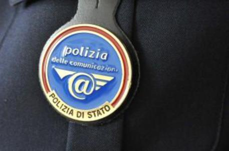 (ANSA) - BOLOGNA, 24 AGO - Stemma Polizia postale.
