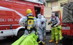 Vada (Livorno): rilascio di gas alla ditta Ecomar, intervento dei vigili del fuoco del nucleo Nbcr