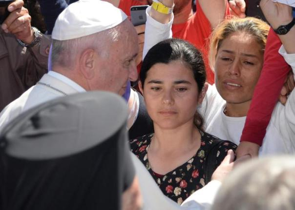 Pope Francis visit the island of Lesbos