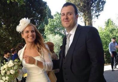 Michela Noli e Mattia Di Teodoro il giorno del loro matrimonio