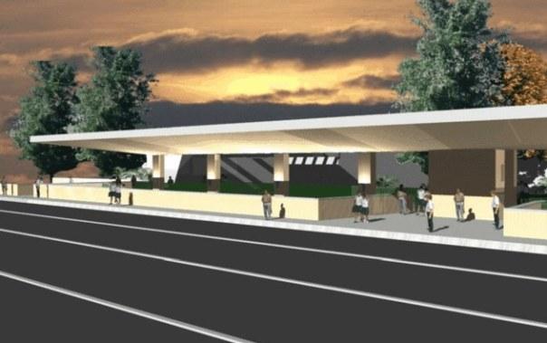 Rendering della stazione Guidoni