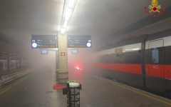 Firenze, esercitazione di protezione civile alla stazione di Santa Maria Novella (foto e video)