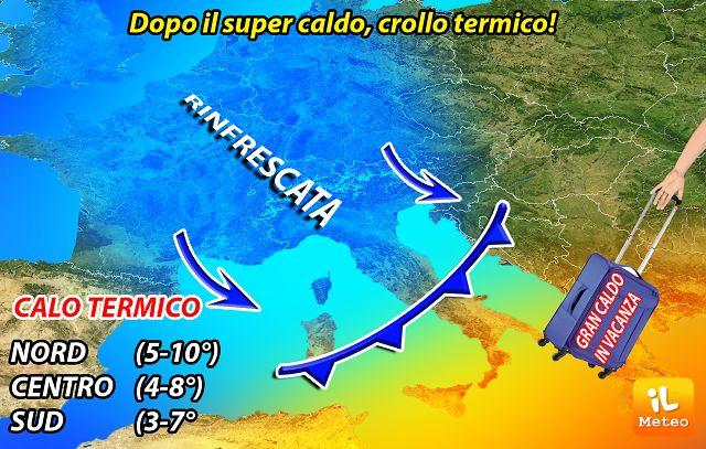 Meteo l'anticiclone Nerone ha le ore contate, domani tornano i temporali