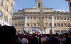 Corpo Forestale dello Stato: 2.000 a Montecitorio contro l'accorpamento con i carabinieri