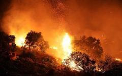 Toscana: emergenza incendi. In fiamme da 24 ore i boschi fra Fucecchio e Santa Croce sull'Arno