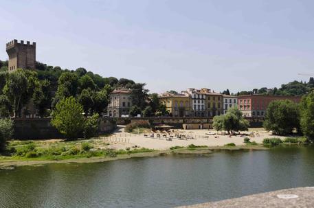 La spiaggia sull'Arno, a Firenze