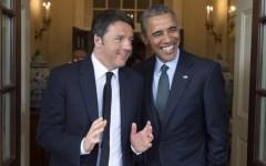 Italia-Usa: Obama-Renzi, stretta di mano nello studio ovale. Barack: «Che meraviglia la Toscana!»