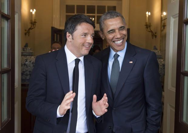 Matteo Renzi con Barack Obama alla Casa Bianca