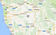 Firenze, terremoto: scossa di magnitudo 3,9 con epicentro fra Castelfiorentino e Certaldo. Molte telefonate ai vigili del fuoco