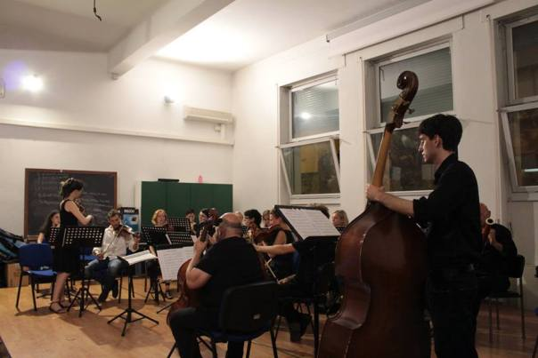 L'Orchestra dell'Università durante una prova