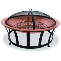 Copper Fire Pit 30 inch with Screen BRWAD517A | CozyDays
