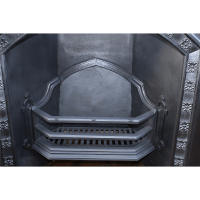 Gothic Arch Register grate | Antique Cast iron Fire Surrounds