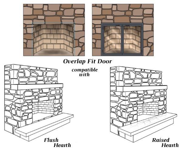 Atlanta Glass Fireplace Door For Masonry Fireplaces