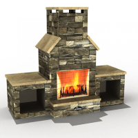 Superior Gas Outdoor Vent-Free Fireplace VRE4500