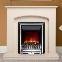 "Delicate Finish | Be Modern Lusso Electric 42"" Fireplace Suite"