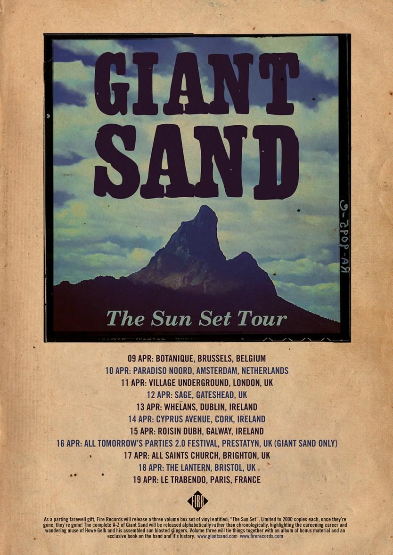 giant sand sun set tour