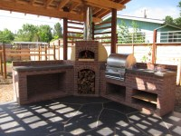 Outdoor Kitchen with Wood-Fired Oven and Grill - Firespeaking