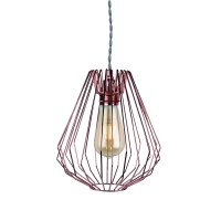 Copper Wire Geometric Ceiling Light Pendant