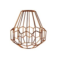 Retro Industrial Copper Metal Wire Frame Ceiling Light ...