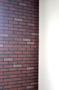 Faux Brick-ifying - First Home Love Life