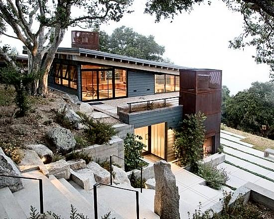 Tips for building on a sloped terrain first in architecture for Modern house website