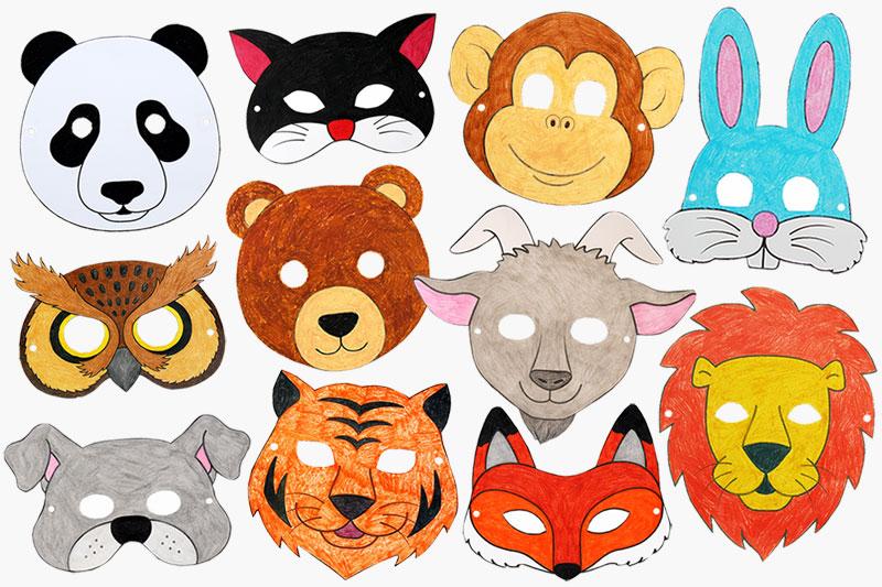 Printable Animal Masks Kids\u0027 Crafts Fun Craft Ideas