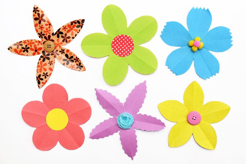 Folding Paper Flowers (5 Petals) Kids\u0027 Crafts Fun Craft Ideas