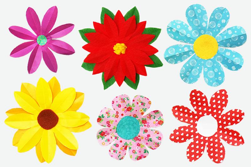 Folding Paper Flowers (8 Petals) Kids\u0027 Crafts Fun Craft Ideas