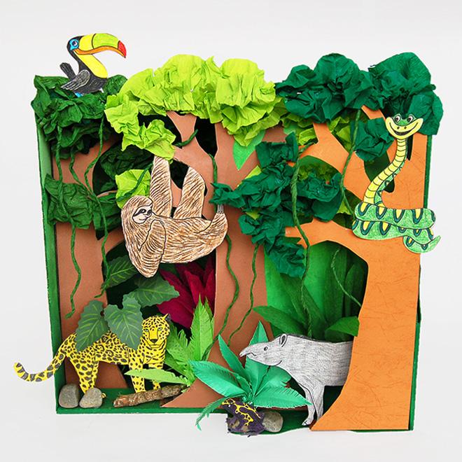 Rainforest Habitat Diorama Kids\u0027 Crafts Fun Craft Ideas