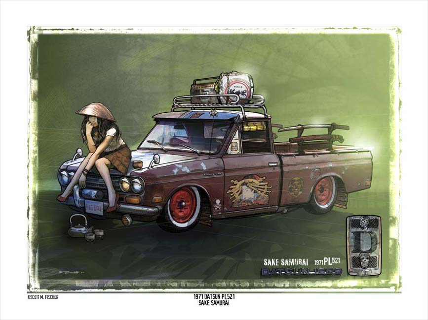 Scott Fischer Car Art