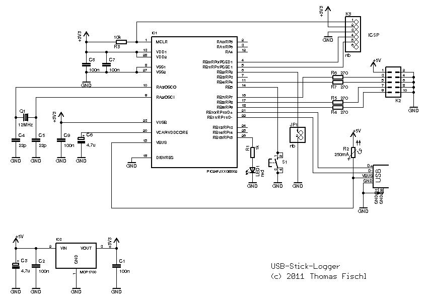schematics diagram for serial data logger