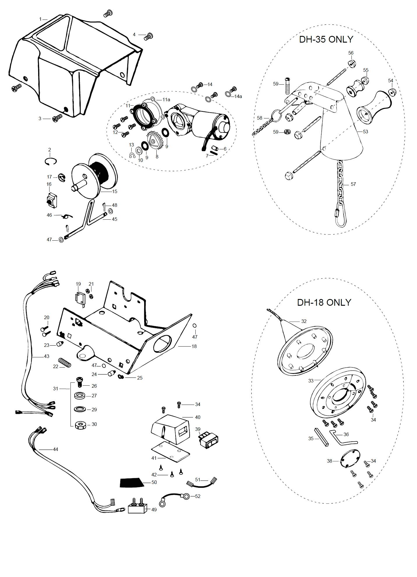 wiring diagram for minn kota dh 40