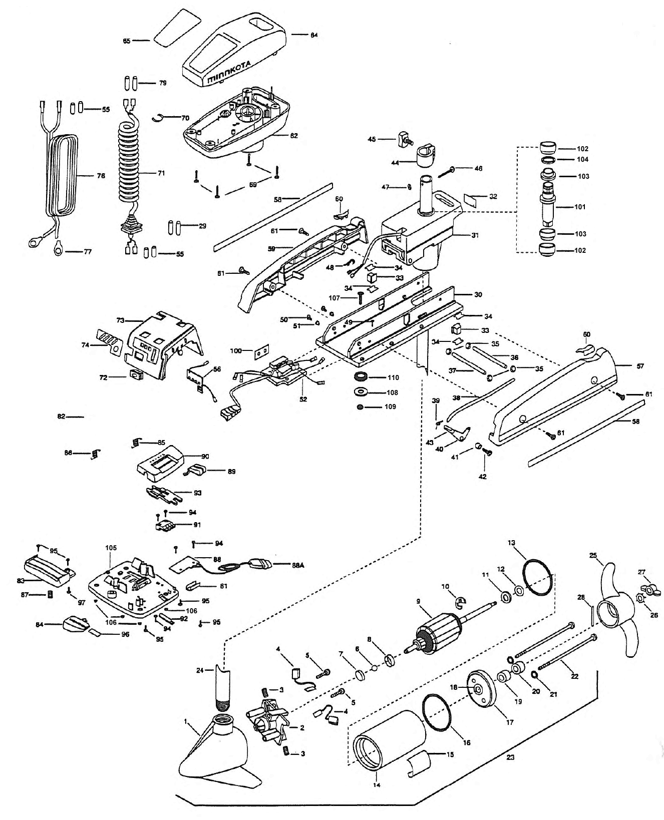 minn kota motor parts wiring diagrams