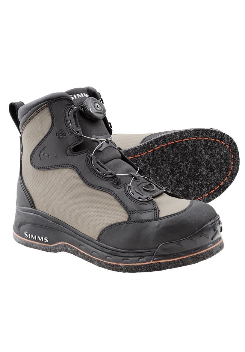 Simms Rivertek Boa Felt Wading Boots Glasgow Angling Centre