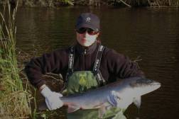 Miss Sherrylynn Rowe with nice big salmon