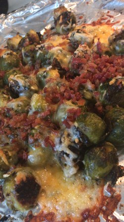 Impressive Se Cheesy Brussels Sprouts Cheese And Realizehow Much It Was Worth I Tell You That Se Converted My Keto Oven Roasted Brussel Sprouts One Bite Bacon Celina