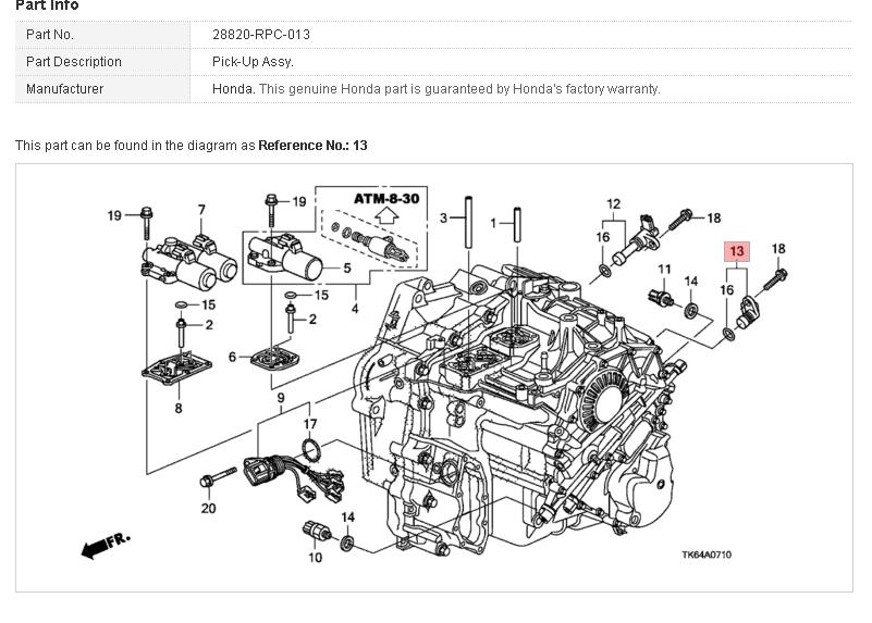 honda cvt transmission diagram