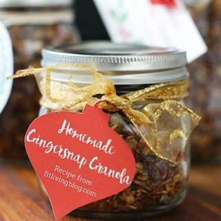 homemade gingersnap granola