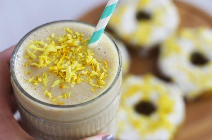 golden milk smoothie featured