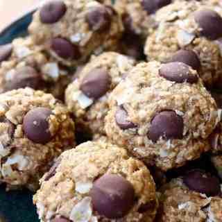 Banana Coconut Dark Chocolate Chip Cookies [Fit Mitten Kitchen]