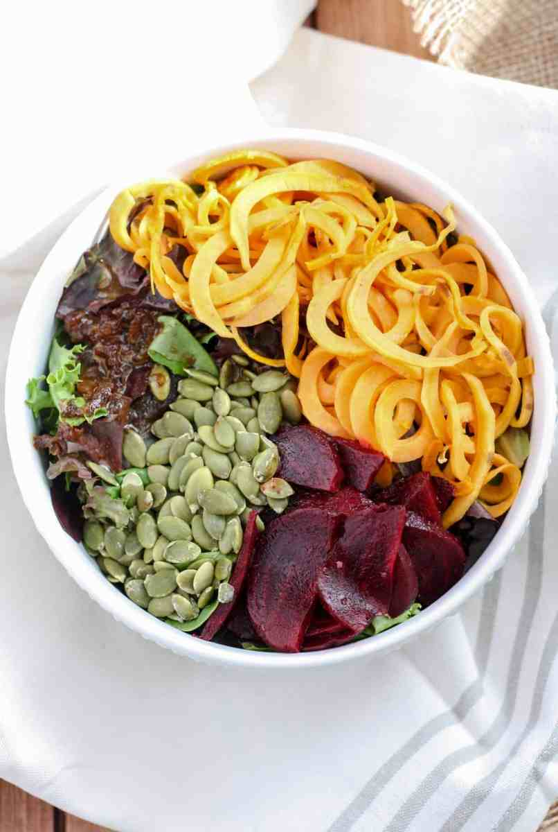 Sweet Potato Beet Salad [with balsamic date dressing]