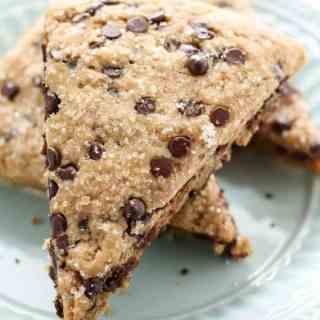 Vegan Whole Wheat Chocolate Chip Scones-12