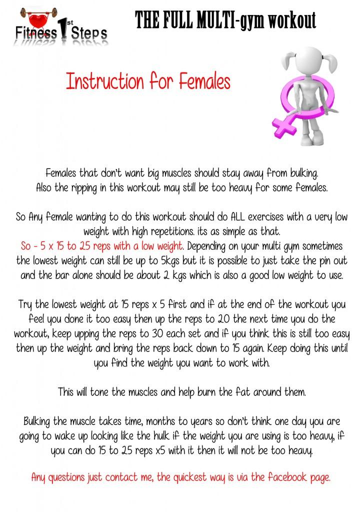 Multi gym Workout - Fitness 1st Steps