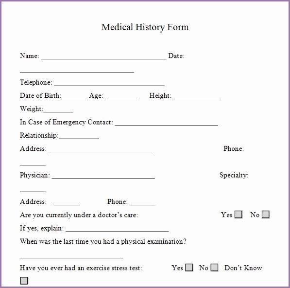 Acsm Fitness assessment form 630629dbnelz Luxury Medical History