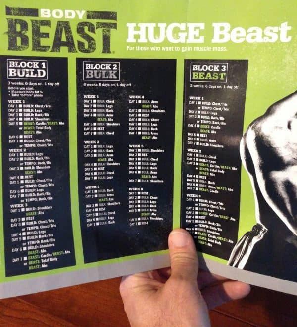 Beast Workout Sheet Body Beast Huge Workout Schedule Body Beast - beast workout sheet