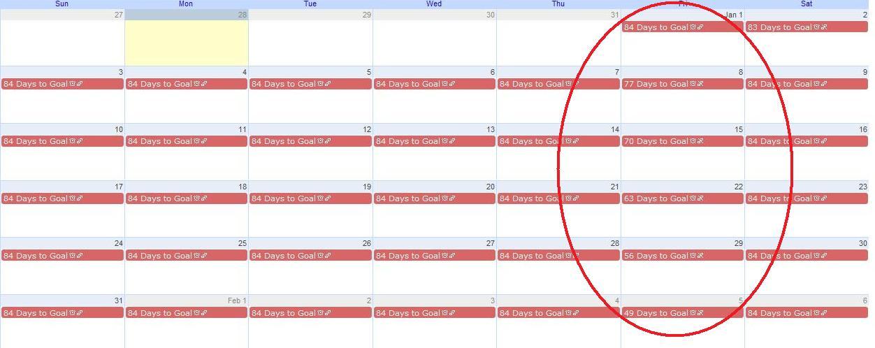 weight loss goal calendar - Onwebioinnovate