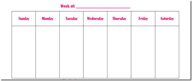 One Week Calendar Template Word Waiter Resume Examples For Letters