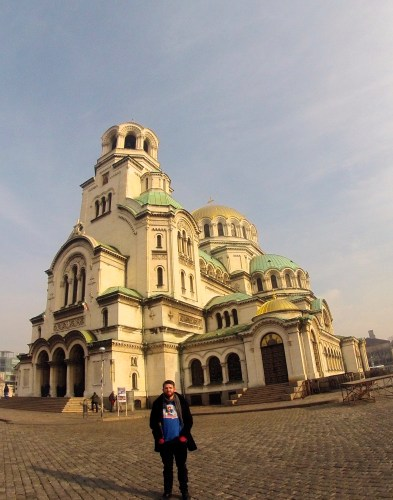 Fitzmagic at St. Alexander Nevsky Cathedral in Sofia, Bulgaria.